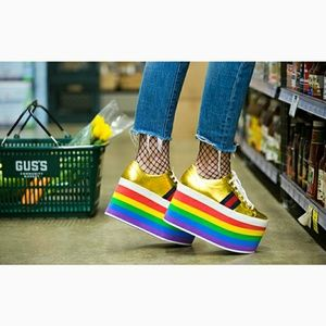 Gucci Women's Peggy Rainbow Platform